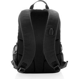 "Lima 15"" PVC vrije laptop rugzak met RFID & USB-zwart achterzijde"