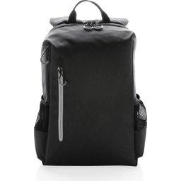 """Lima 15"""" PVC vrije laptop rugzak met RFID & USB-zwart voorzijde"""