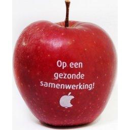 Logo appel bedrukken appels
