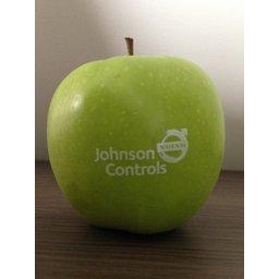 Logo appelen bedrukt