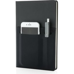 Luxe notitieboek met slimme opbergvakken