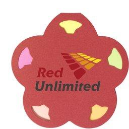 Memoboekje Flower rood