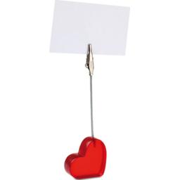 Memoclip in vorm van hartje