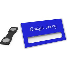 Naambadge Color donker blauw
