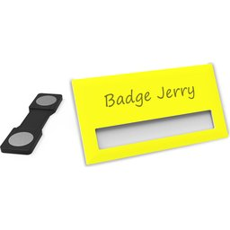 Naambadge Color geel