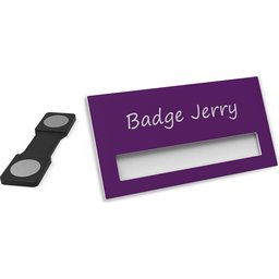 Naambadge Color paars