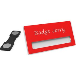 Naambadge Color rood