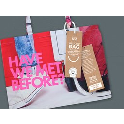 Nieuw! Tassen gemaakt van oud promotie materiaal! #stopplastic