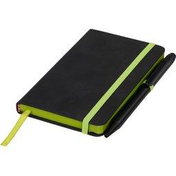 Noir edge klein notitieboek -groen