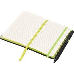 Noir edge klein notitieboek -groen open