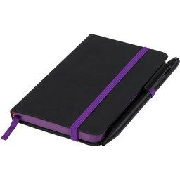 Noir edge klein notitieboek -paars