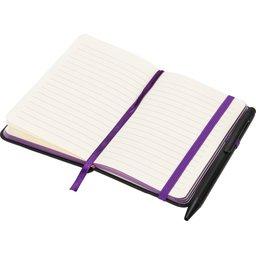 Noir edge klein notitieboek -paars open