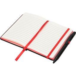 Noir edge klein notitieboek -rood open