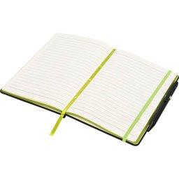 Noir Edge medium notitieboek -groen open