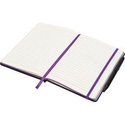 Noir Edge medium notitieboek -paars open