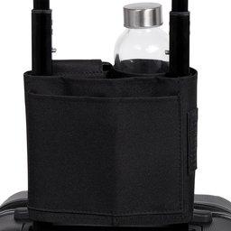 Norländer Trolley Bottle Sleeve 600D-zwart zijkant