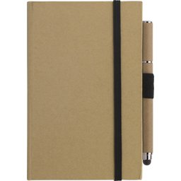 Notitieboek karton A6 en balpen stylus bedrukken