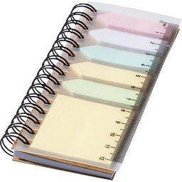 Notitieboekje met sticky notes