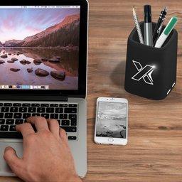 O10 pennenbakje met oplichtend logo-sfeerbeeld