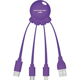 Octopus 2 kabel purper