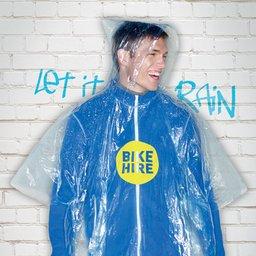 Opvouwbare wegwerp regenponcho bedrukken