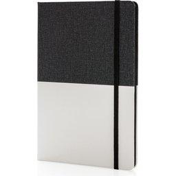 Deluxe notitieboek met gekleurde rand