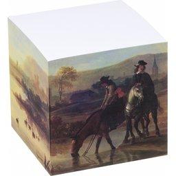 Papierkubus 4 zijden bedrukt - 4 designs