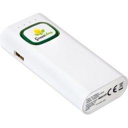 Powerbank met COB Led zaklamp - 2600 mAh bedrukken