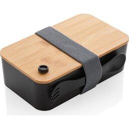 PP lunchbox met bamboe deksel en spork