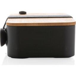 PP lunchbox met bamboe deksel en spork-zijkant2