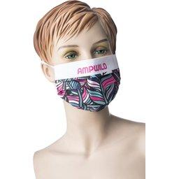 Promo stoffen mondmasker met bedrukking naar keuze WASBAAR 1