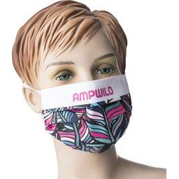Promo stoffen mondmasker met bedrukking naar keuze WASBAAR