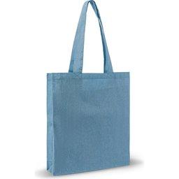 Recycled Katoen Schoudertas 38 x 42 x 10 cm-blauw