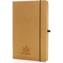 Recycled leder hardcover A5 notitieboek bedrukt