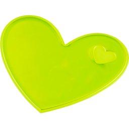 Reflecterende sticker hart-geel