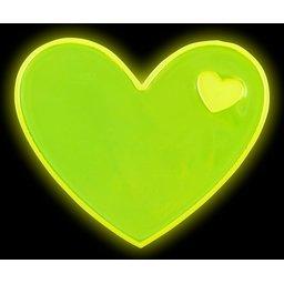 Reflecterende sticker hart-reflecterend