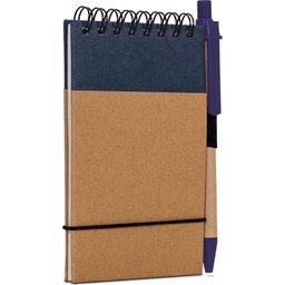 Reporter Notitieboekje Recycled Papier met Pen-blauw