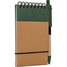 Reporter Notitieboekje Recycled Papier met Pen-groen