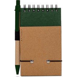 Reporter Notitieboekje Recycled Papier met Pen-groen achterzijde