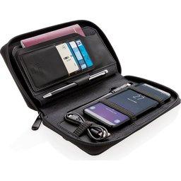 RFID reisportefeuille met powerbank en draadloze oplader - 4000 mAh