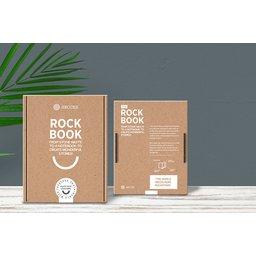 Rockbook notitieboek gemaakt van steenafval bedrukt