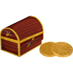 Schatkist chocolade munten bedrukken