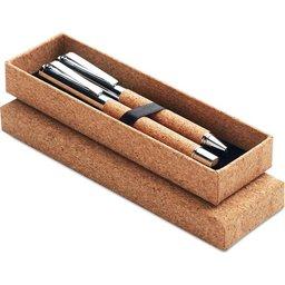Schrijfset in kurk giftbox