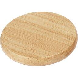 Scoll houten onderzetter met flesopener