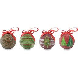 Set 4 kerstballen bedrukken