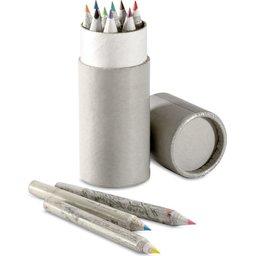 Set van 12 gerecyclede kleurpotloodjes