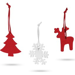 Set van 3 Kerst decoraties