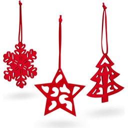 Set van 3 stuks kerstdecoratie