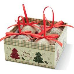 Set van 4 kerstballen