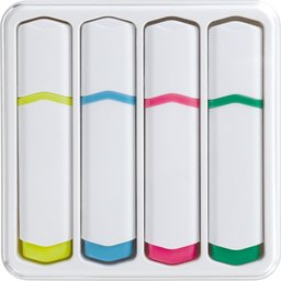 Set van 4 tekstmarkers markeerstift